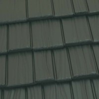 Country Manor Shake Metal Roof - Forest Green