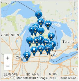 Map of Guild Quality reviews about American Metal Roofs