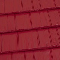 Rustic Shingle Metal Roof - Brite Red